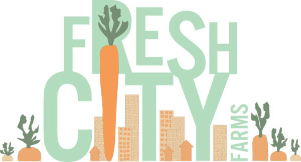 Fresh City Farms logo on eatlivetravelwrite.com