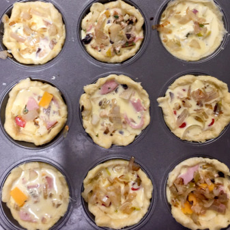 Mini quiches made by kids on eatlivetravelwrite.com