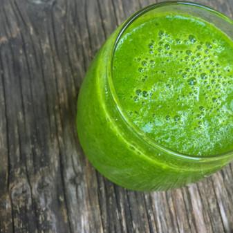 Kale spinach pear banana celery smoothie on eatlivetravelwrite.com