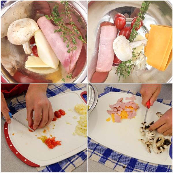 Kids chopping quiche fillings on eatlivetravelwrite.com