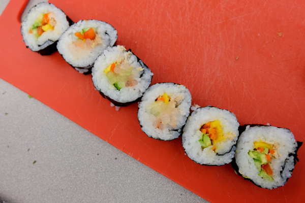 Sushi rolls by kids with John Placko on eatlivetravelwrite.com