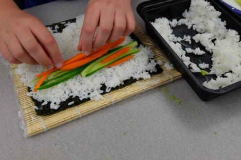 Making vegetarian sushi rolls with John Placko on eatlivetravelwrite.com
