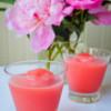 Rose rhubarb strawberry slushie on eatlivetravelwrite.com
