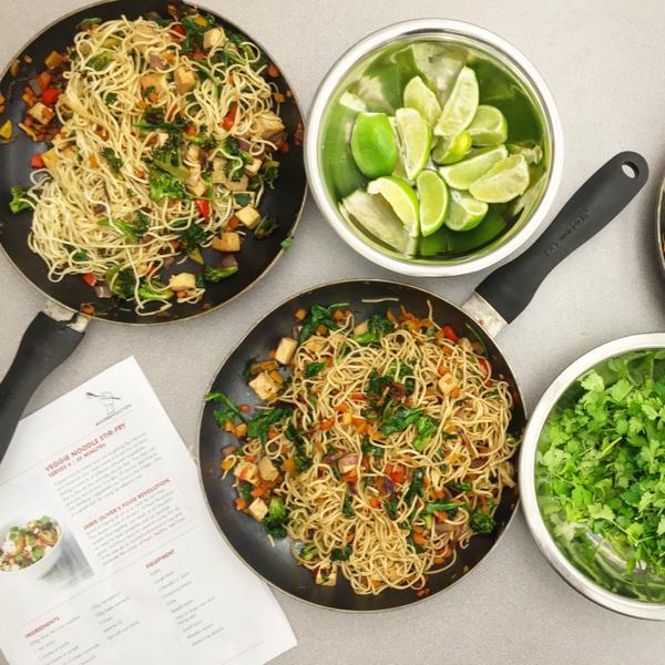Jamie Oliver Food Revolution veggie noodle stir fry on eatlivetravelwrite.com