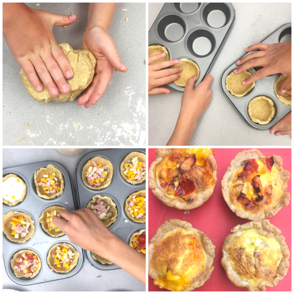 Kids making quiches on eatlivetravelwrite.com