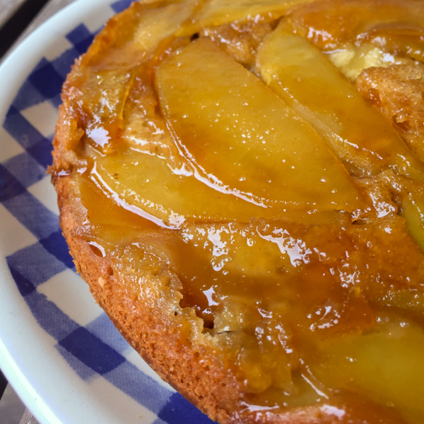 Upside down apple cake on eatlivetravelwrite.com