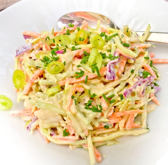 Creamy vegetable slaw from David Lebovitz My Paris Kitchen on eatlivetravelwrite.com