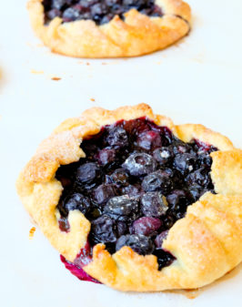 Mini blueberry galettes on eatlivetravelwrite.com