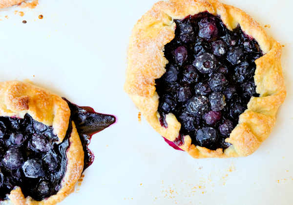 Mini blueberry galette recipe on eatlivetravelwrite.com