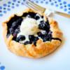 Mini blueberry galette with ice cream on eatlivetravelwrite.com