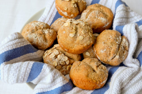 Rye soda bread rolls with 1847 Stone Milling flours on eatlivetravelwrite.com