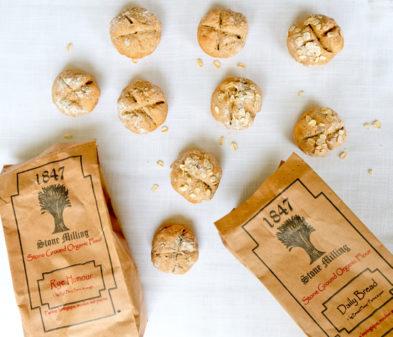 1847 Stone Milling flours for Rye soda bread rolls on eatlivetravelwrite.com