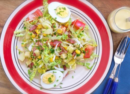 Big salad French style on eatlivetravelwrite.com