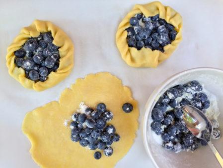 Mini blueberry galette on eatlivetravelwrite.com