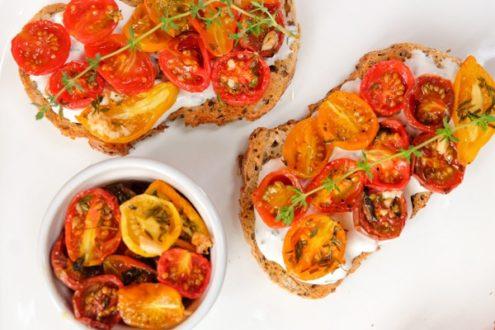 David Lebovitz cherry tomato crostini from My Paris Kitchen on eatlivetravelwrite.com