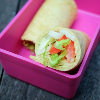 Mexican wrap in lunchbox on eatlivetravelwrite.com