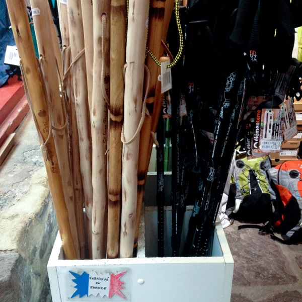Walking sticks in Saint-Jean-Pied-de-Port on eatlivetravelwrite.com