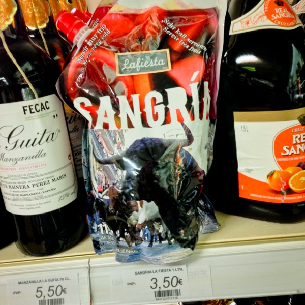 Sangria in the supermarket on eatlivetravelwrite.com