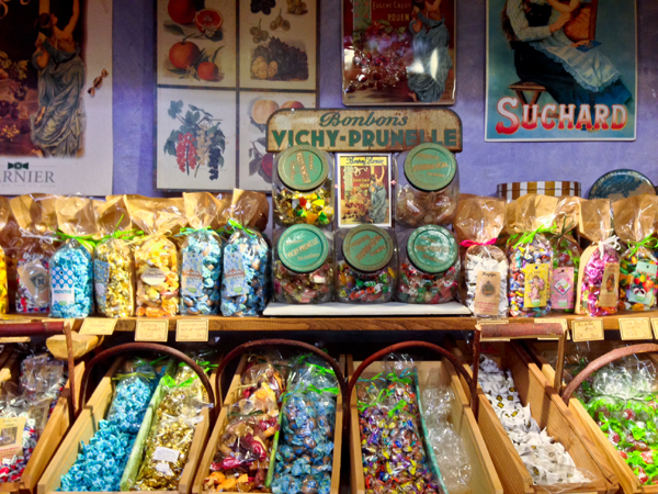 Old style candies at Le Paradid Gourmand in Toulouse on eatlivetravelwrite.com
