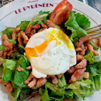 Lardon salad at Le Pyrenéen in Toulouse on eatlivetravelwrite.com