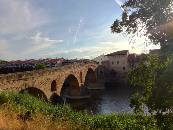 View of Puente la Reina on the Camino on eatlivetravelwrite.com