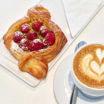 Pistachio raspberry croissant at Nadege Toronto on eatlivetravelwrite.com