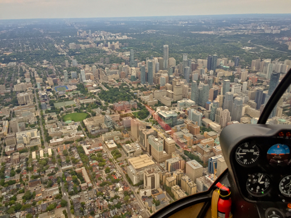 View of Toronto from the air with Toronto Heli Tours on eatlivetravelwrite.com
