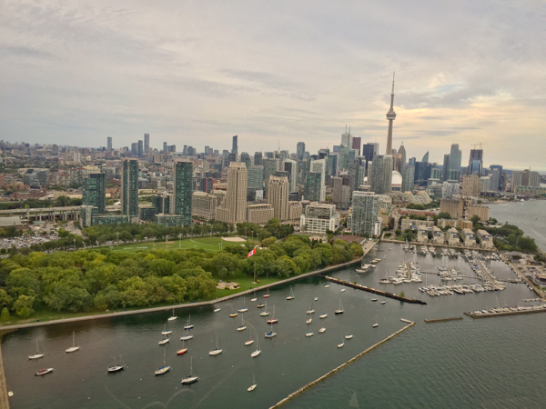 Approaching Billy Bishop with Toronto Heli Tours on eatlivetravelwrite.com