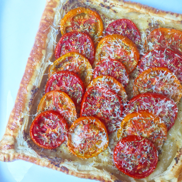 Tomato mustard tart from My Paris Market Cookbook on eatlivetravelwrite.com