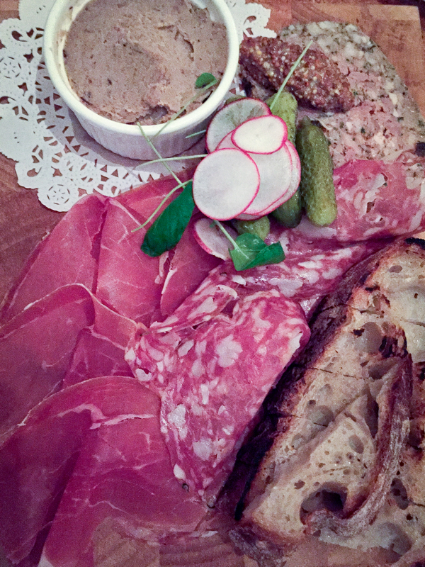 Charcuterie at Le Baratin on eatlivetravelwrite.com
