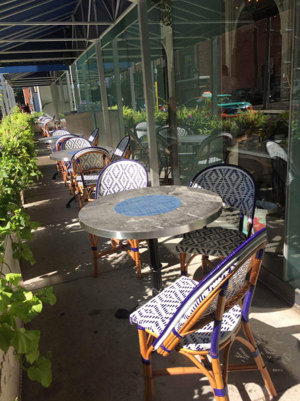 Patio at Colette on eatlivetravelwrite.com