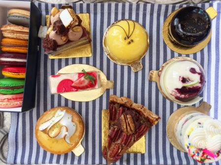 Dessert selection at Colette on eatlivetravelwrite.com
