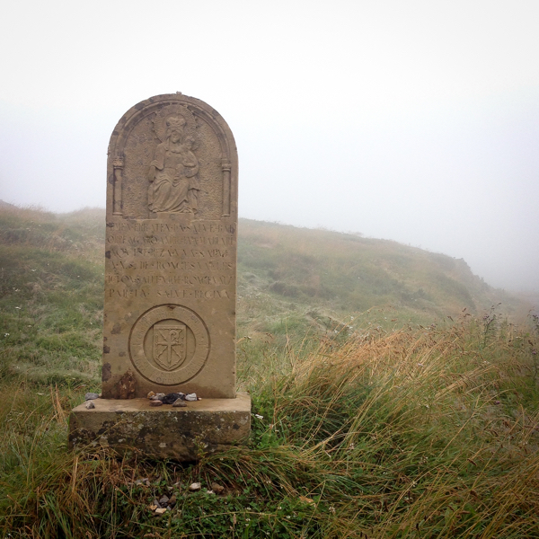 Gravestone approaching Roncesvalles on the Camino on eatlivetravelwrite.com