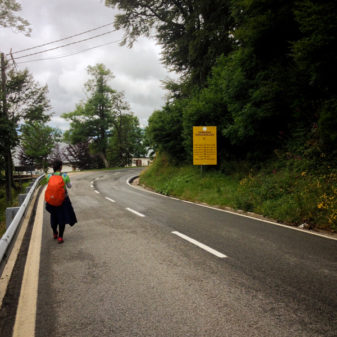Approaching Roncesvalles on the Camino on eatlivetravelwrite.com