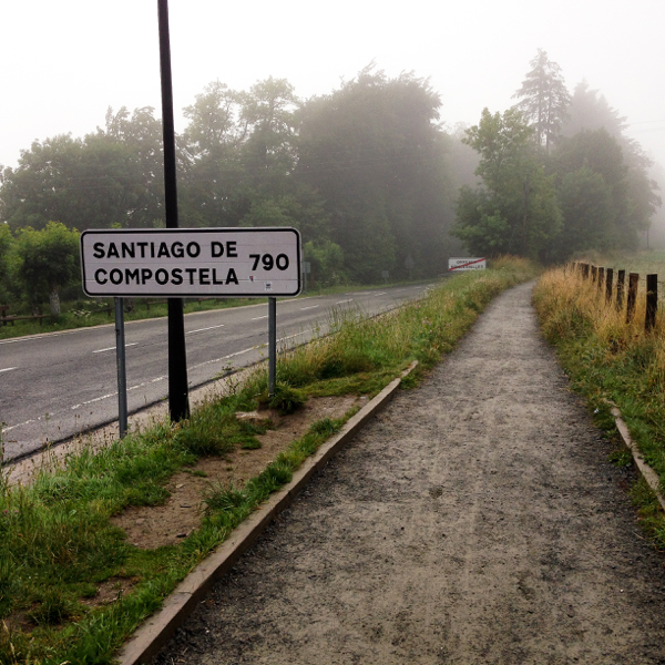 At the beginning on Camino de Santiago on eatlivetravelwrite.com
