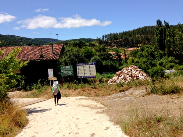 Arriving in Zubiri on Camino de Santiago on eatlivetravelwrite.com