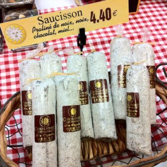 Saucisson au chocolat in Nerac on eatlivetravelwrite.com