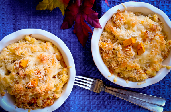 Roasted butternut squash mac and cheese on eatlivetravelwrite.com