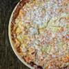 Dorie Greenspan pear tart crunchy almond topping on eatlivetravelwrite.com