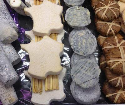 French shaped cheese at Les Halles de Lyon Paul Bocuse on eatlivetravelwrite.com