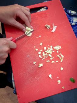 Children mincing garlic on eatlivetravelwrite.com
