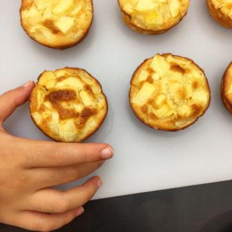 Dorie Greenspan custardy apple muffins on eatlivetravelwrite.com