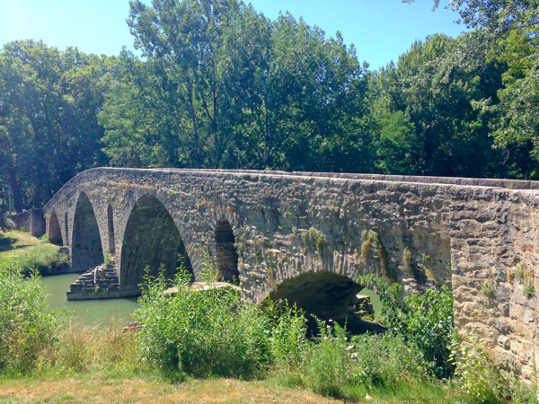 Puente de Magdalena in Pamplona on the Camino de Santiago on eatlivetravelwrite.com