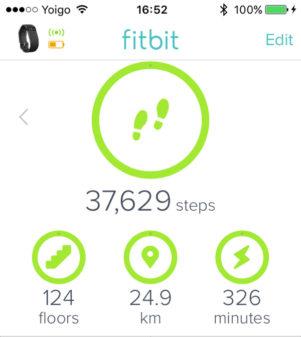 Fitbit Stats Camino Day 4 on the Camino de Santiago on eatlivetravelwrite.com