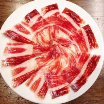 Jamon Iberico in Pamplona on the Camino de Santiago on eatlivetravelwrite.com