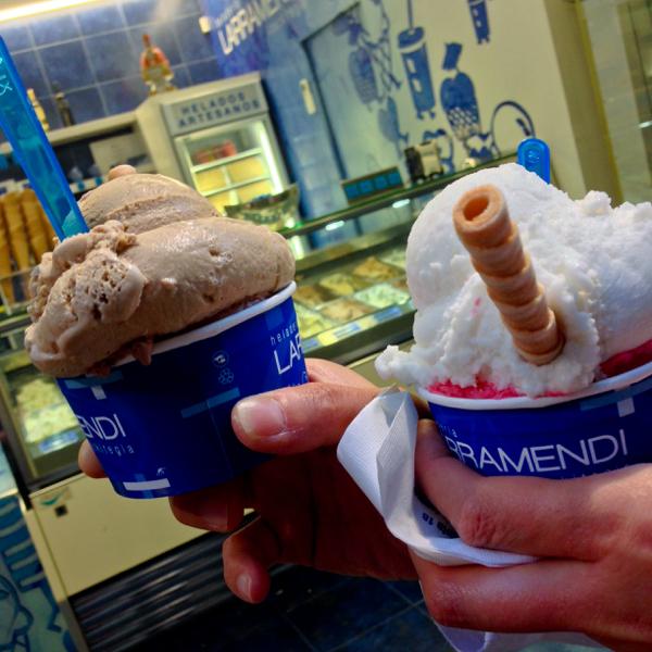 Ice cream in Pamplona on the Camino de Santiago on eatlivetravelwrite.com