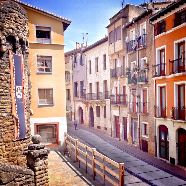 Street in Estella walking the Camino de Santiago on eatlivetravelwrite.com