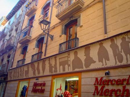 Storefront in Estella walking the Camino de Santiago on eatlivetravelwrite.com