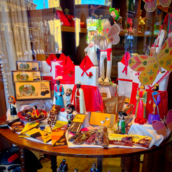 Candy store in Estella walking the Camino de Santiago on eatlivetravelwrite.com