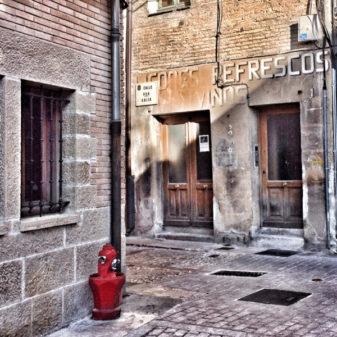 Ghost signs in Estella walking the Camino de Santiago on eatlivetravelwrite.com